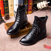 Careaymade-Head layer cowhide pure handmade ankle half short boots ,Sen female casual Martin womens Boots,Real Leather shoes