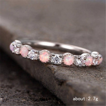 1 PC Rose gold  with zircon ring Fashion wedding Gold and silver Ladies accessories