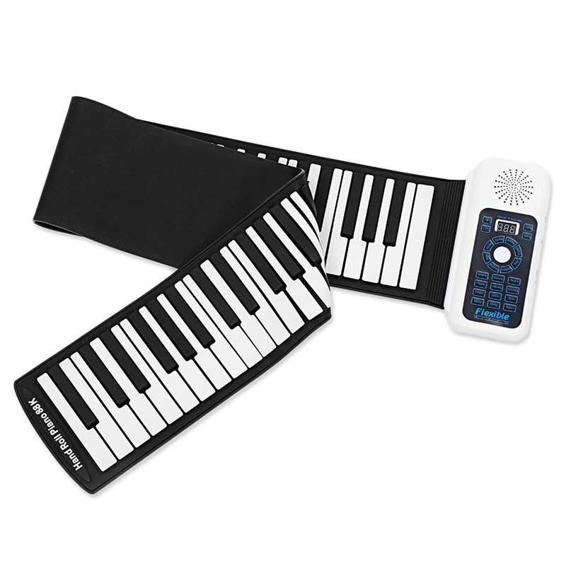 HLBY 88 Keys Universal Flexible Roll Up Soft Keyboard Piano for guitar players