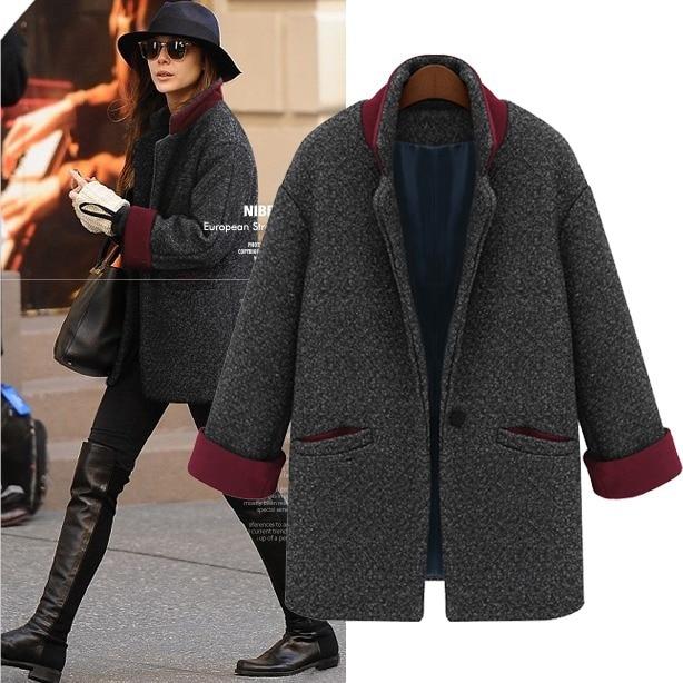 Hot mode hiver femmes Parka manteaux manteaux Style Boyfriend manteau  oversize