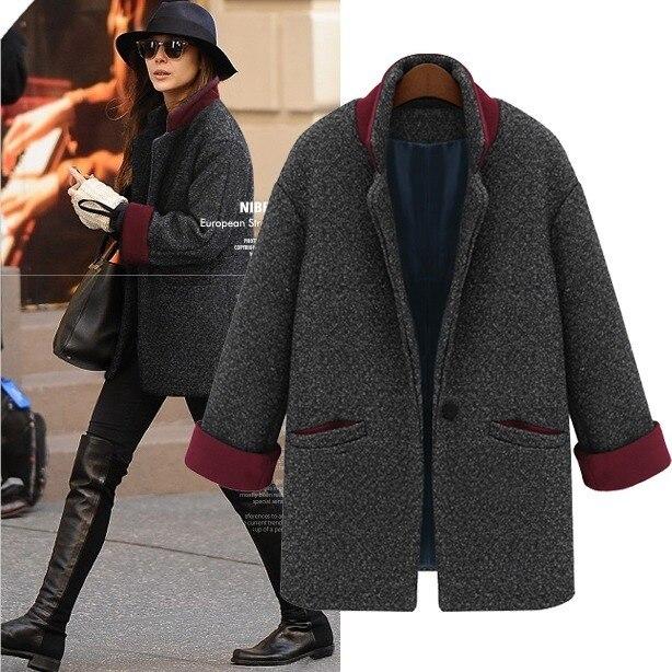 Manteau oversize en laine femme