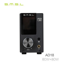 SMSL AD18 Home Full Digital Power Amplifier 2.1 Hifi USD DAC Bluetooth Amplifier Audio Amp 80W