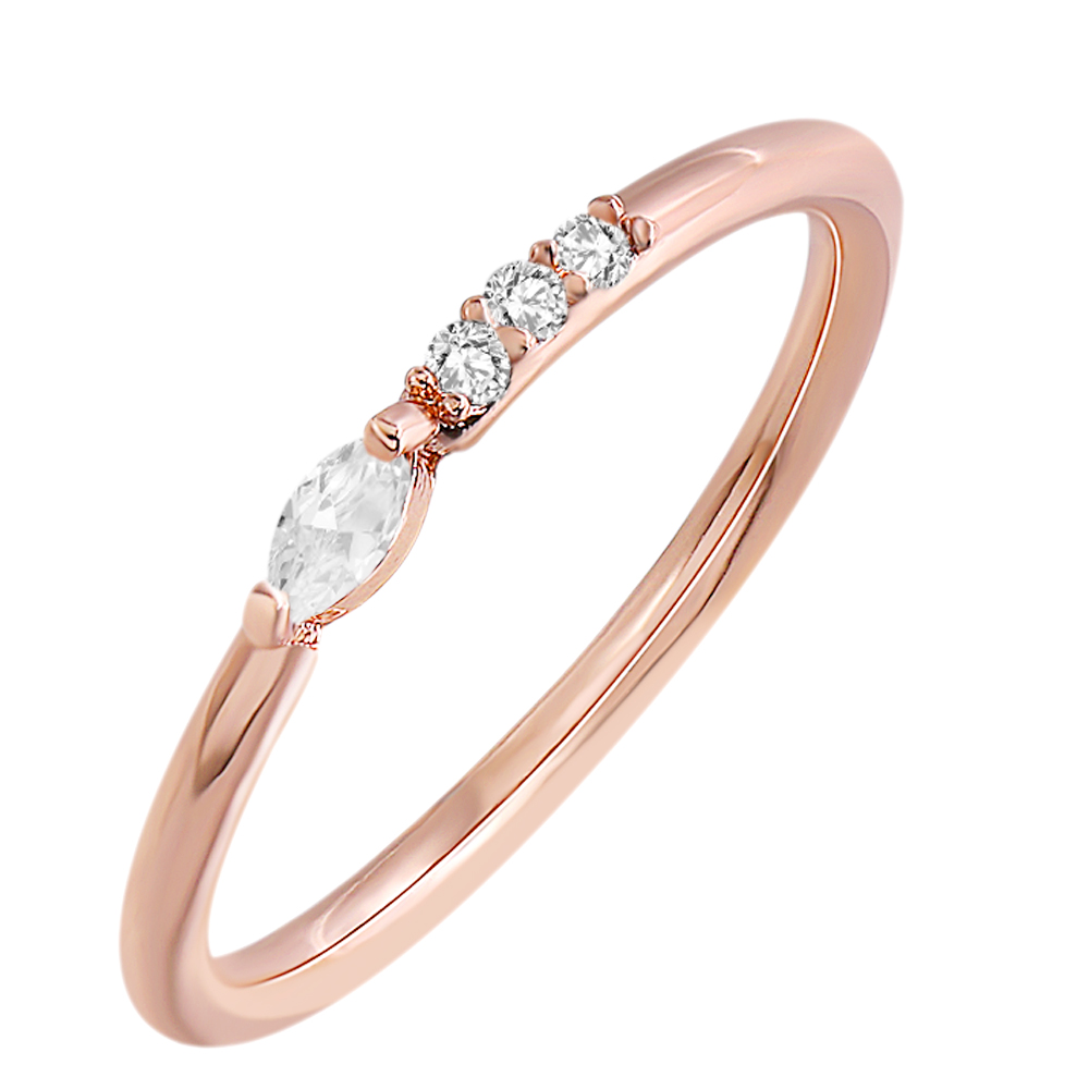 Aoedej Rose Gold Women Rings With Crystals Diy Engagement