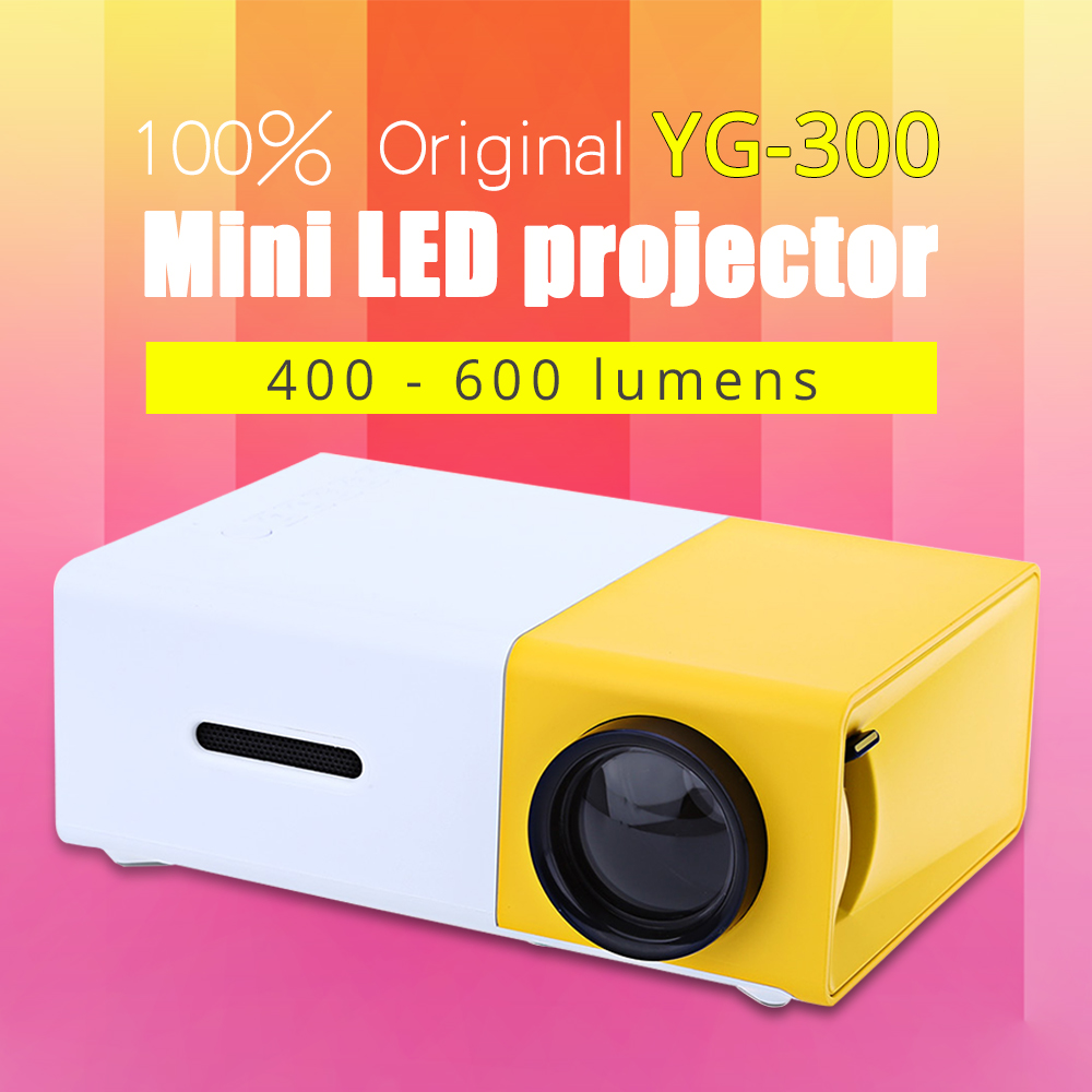 Yg310 Lcd Projector 600lm 320 X 240 1080p Mini Portable Hd: Online Shopping Short Throw