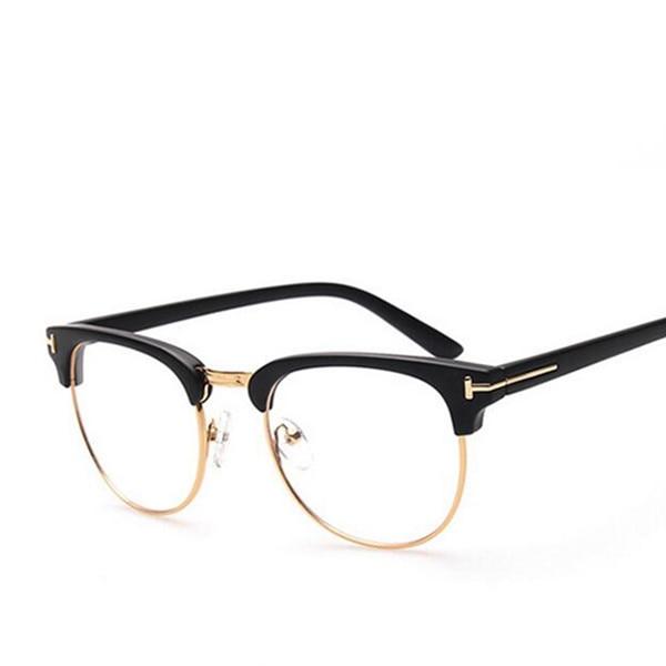 High Quality Metal Decoration Eyeglasses Frame Men Women Optical ...