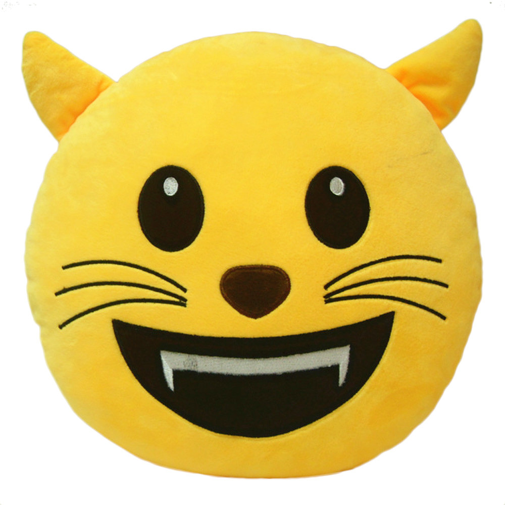 cute emoji emoticon cushion shape pillow doll toy throw pillow top selling hig quality new popular - Popular Throw Pillows