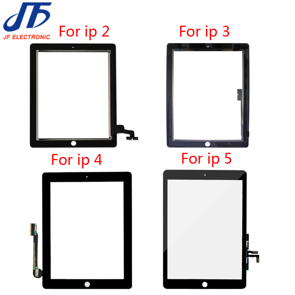DHL Free Shipping For ipad 2 3 4 5 Touch Panel Replacement For iPad air Touch