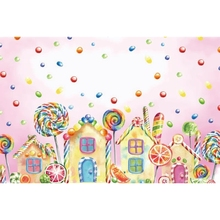 Yeele Baby Drawing Lollipop Candy Colorful Watermelon House Birthday Child Pattern Photography Backdrop Background Photo Shoot