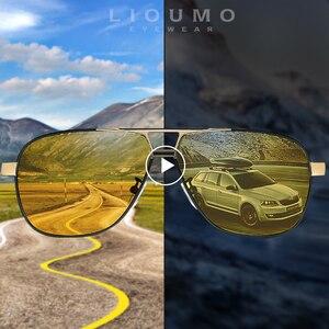Image 1 - LIOUMO Brand Photochromic Sunglasses Polarized Men Sunglasses Day&Night Vision  Women Driving Glasses Oculos zonnebril mannen