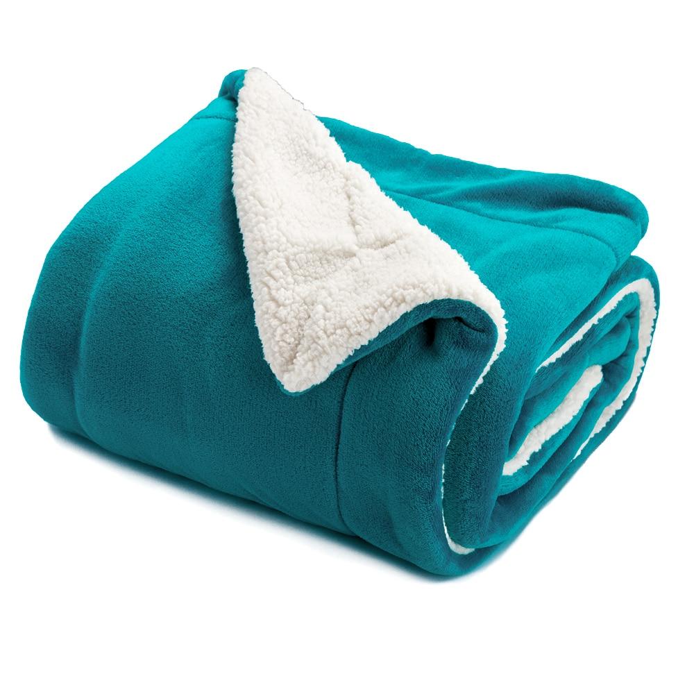 2017 soft warm blanket coral sherpa blankets travel sofa for Sherpa blanket