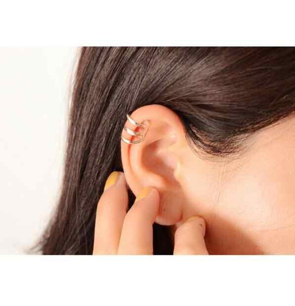 Ex000 1 piezas nuevo punk rock oreja clip plata oro hombres y mujeres sin oreja piercing pendientes fiesta joyería pareja joyería