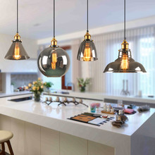 Artpad Modern Minimalism Dining Room Kitchen Pendant Lights E27 Black Amber Clear Glass Lampshade Decorative Hanging Lamp