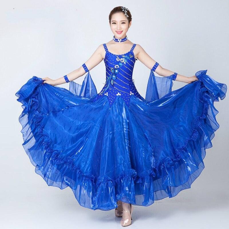 Adult Ballroom Dance Dress Standard Ballroom Dance Skirts Flamenco Dresses Vestido De Formatura Waltz Dance Dress цена