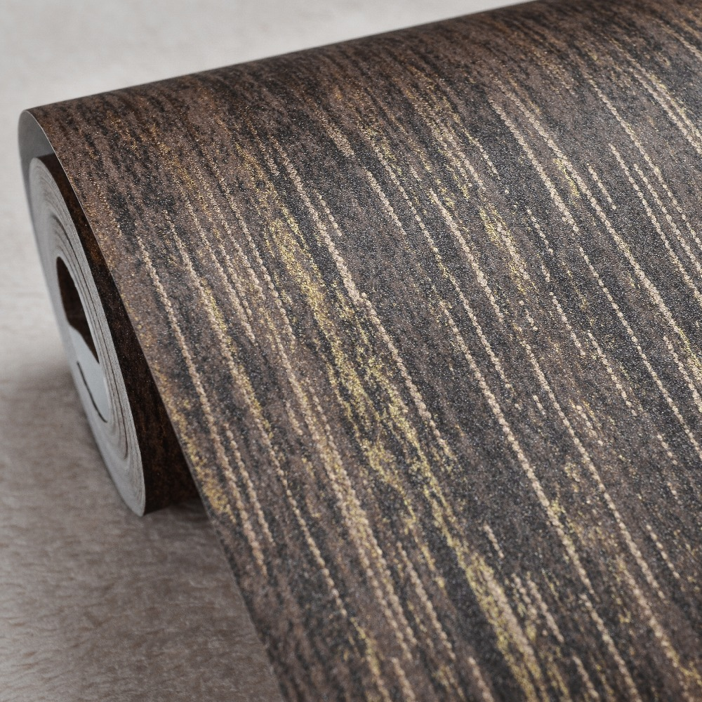 interior design vintage retro striped metallic wallpaper for wallsStripe Brown Interior #5