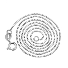 United States version of sterling silver jewelry 925 silver necklace clavicle chain box chain a substituting for women