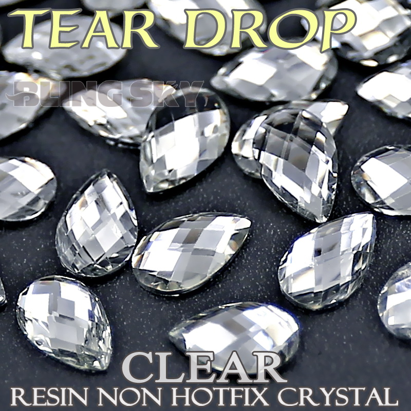 5x8 4x6mm Tear Drop Rhinestones, Clear AB Nail Art Krystaller Akryl Ikke Hotfix Flat Back Glitters for DIY smykker Stone