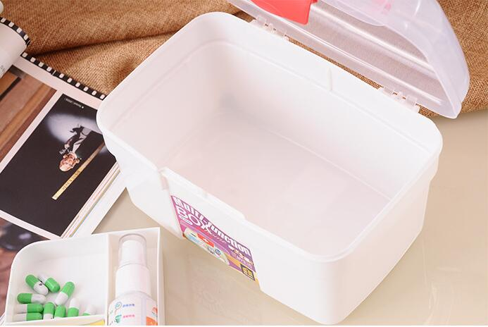 Candy color home medicine kit first aid kit medicine box family double portable medicine storage box medical box laoa colorful folded tool box work box foldable toolbox medicine cabinet manicure kit workbin for storage