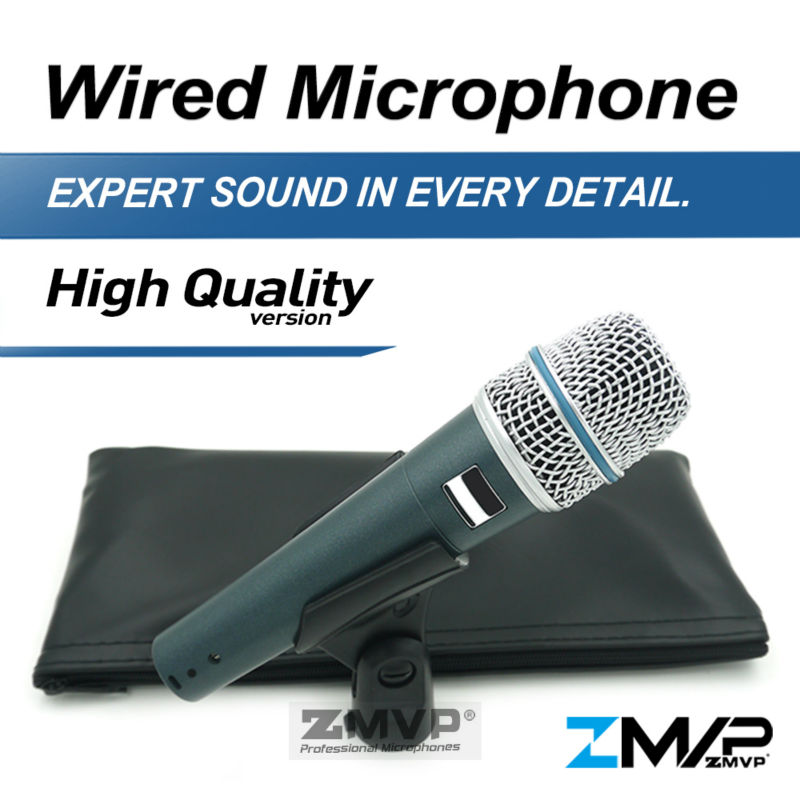 Free Shipping High Quality Version B 57 A Professional Supercardioid Handheld Dynamic 57A Wired Microphone Karaoke Microfone Mic