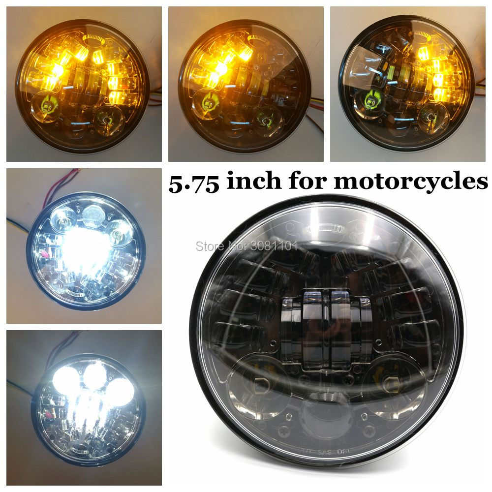 5.75 Motorcycle Projector Headlight 5-3/4 Turn Signal H4 Headlamp for Harley 883 48 72 750 Street Bob Indian Scout Night Rod