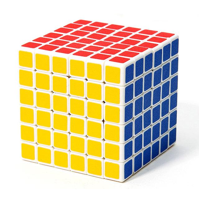 Profesional ShengShou PVC Pegatinas 6x6x6 Cubo Mágico 6*6 Cubo Mágico Puzzle Velocidad Primavera Cubos Juguetes educativos Regalos