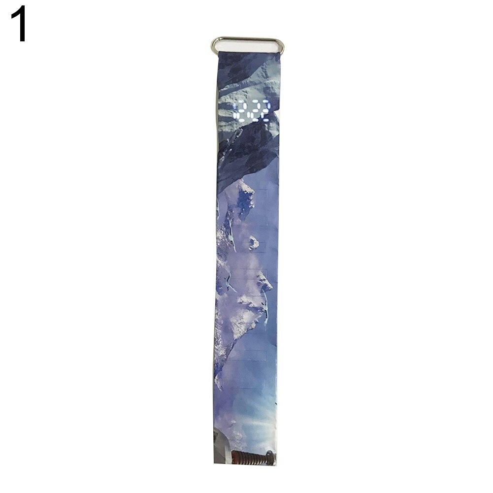 Креативный водонепроницаемый унисекс студенческий светодиодный светильник цифровой дисплей бумажные часы подарок - Цвет: 1
