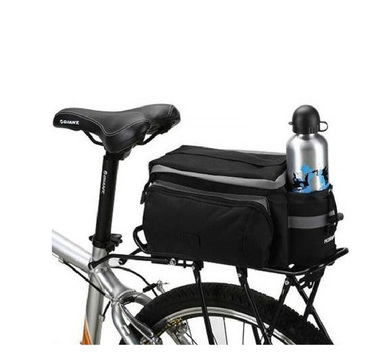 Bike Rear Seat Bag Rack Trunk Basket Pannier Bag Cycling Luggage Handbag K6F1