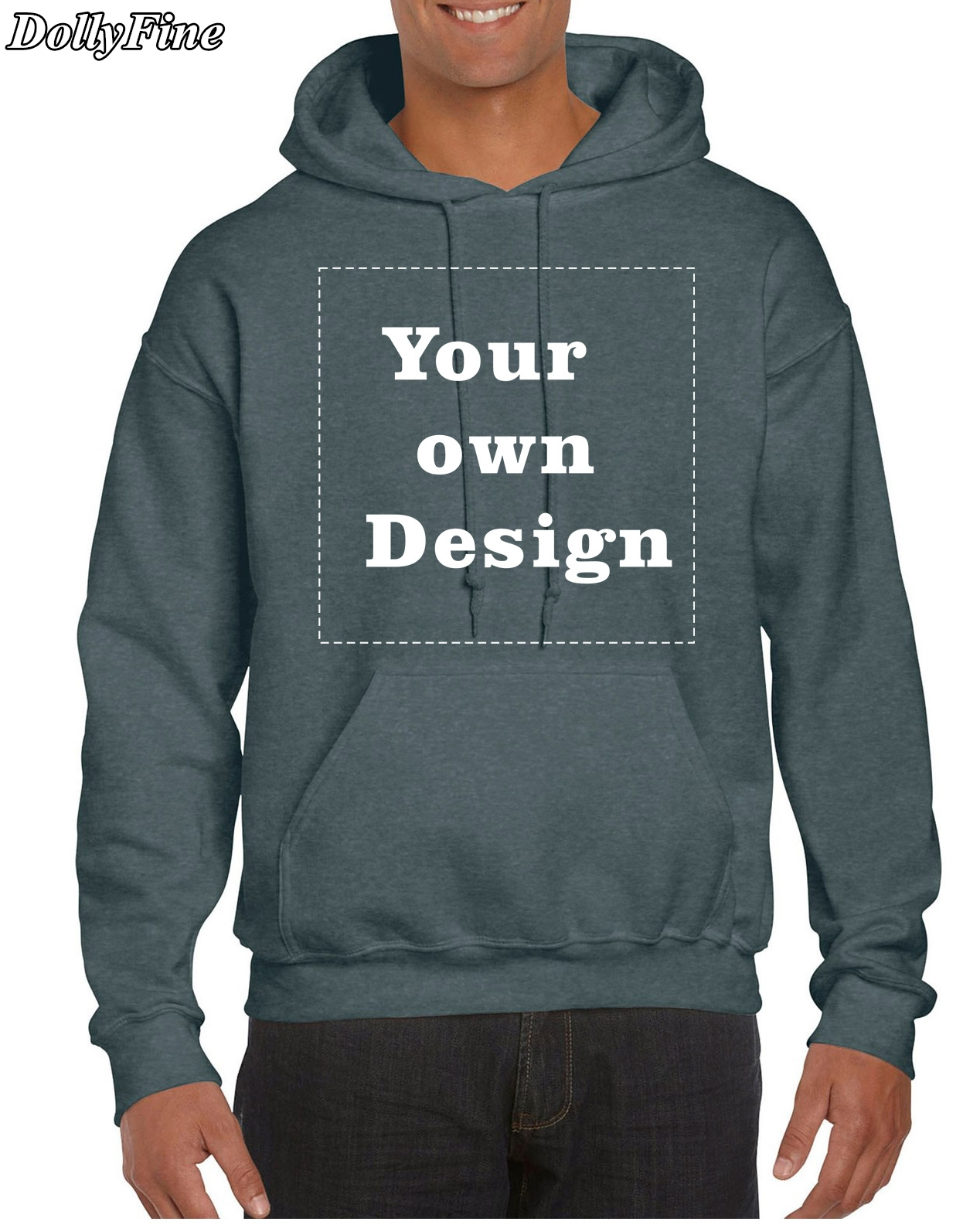Design your own t shirt hoodie - Dollyfine Customized Men S Hoodies Print Your Own Design High Quality Diy
