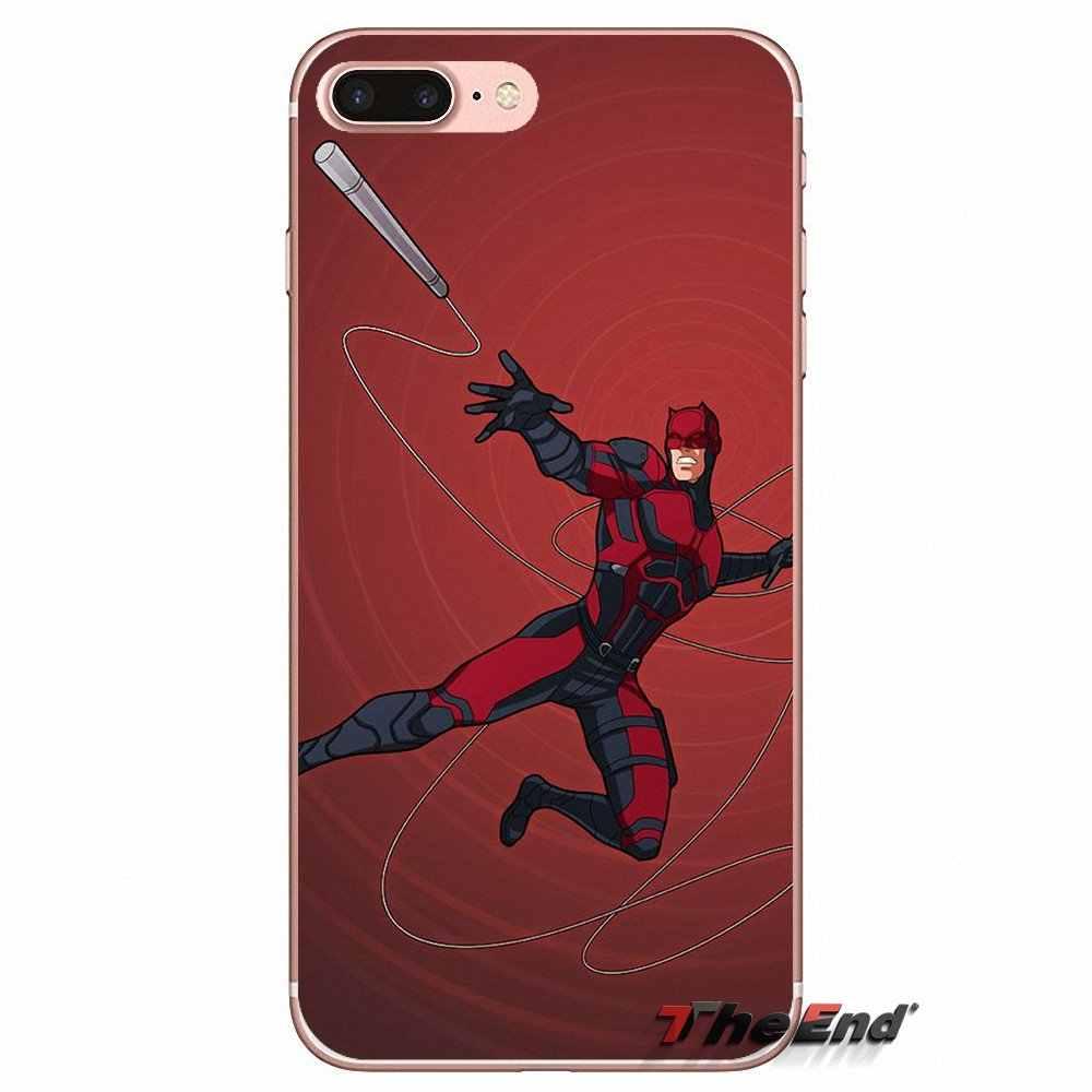 Красный смелый супергерой Мстители для iPhone X 4 4S 5 5S 5C SE 6 6 S 7 8 плюс samsung Galaxy J1 J3 J5 J7 A3 A5 2016 2017 чехлы из ТПУ