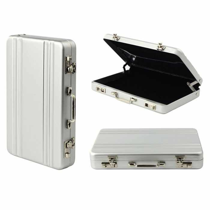 Brand New Metal Zaken Id Credit Card Holder Mini Koffer Business Bank Card Kaarthouder Box Case Organizer # P