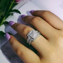 Original Design 925 sterling silver fashion luxury wedding ring engagement finger ring wholesale jewelry R4616S недорого