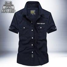 f296e496d88 Оригинальный бренд АФН джип Для мужчин рубашки с коротким рукавом дышащие  размер плюс 4XL прохладное лето