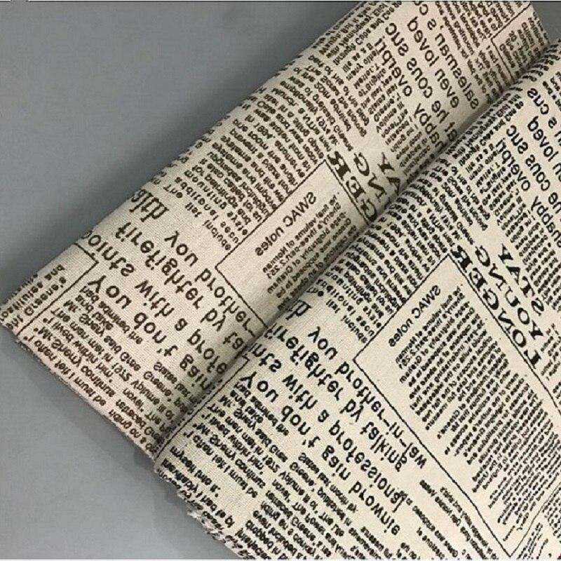 С газетным принтом хлопковое лоскутное белье ткань вплетены устойчивостью хлопка Лен Швейные материалы для ручной работы ручной стежки тк...