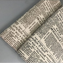 Newspaper Printed Cotton Linen Patchwork Fabric Woven Resistant Cotton Linen Sewing Material DIY Handmade Quilting Cloth Fabric hedgehog printed patchwork cotton linen fabric diy sewing linen cotton fabric quiting woven home textile material handmade craft