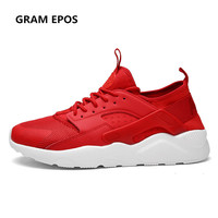 2017 Men Breathable Air Mesh Flat Shoes Tenis Masculino Esportivo Basket Female Mens Red Trainers Zapatillas