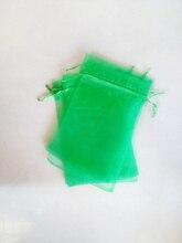 5000 unids Hierba verde del regalo del organza bolsas 13×18 cm bolsos de fiesta para las mujeres evento casarse Con Cordón bolsa de La Joyería pantalla Bolsa de accesorios de bricolaje