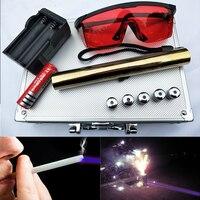 High power Burning Blue Laser Pointer Flashlight sight Torch 445nm 10000m Focusable Lazer burn match candle lit firecracker