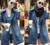 2015 HOT Jeans Mujer Sorprendido Fresca capa de La Manera de Señora Denim Trench Coat Jeans Prendas de Jean más grande tamaño CasualSS67