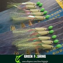 Free shipping 3packs/lot 2015 New Sabiki Soft Fishing Lure Rigs Luminous Fish Head Bait Jigs Lure soft lure Pesca Sabiki lure