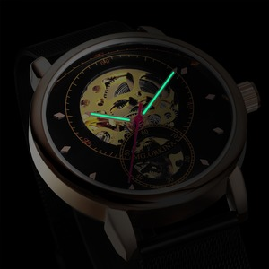 Image 4 - Relojes Hombre 2019 Thiết Kế Mới ORKINA Đồng Hồ Cơ Dây Da Tự Động/Dây Lưới Thép Không Gỉ Đồng Hồ Relogio Masculino