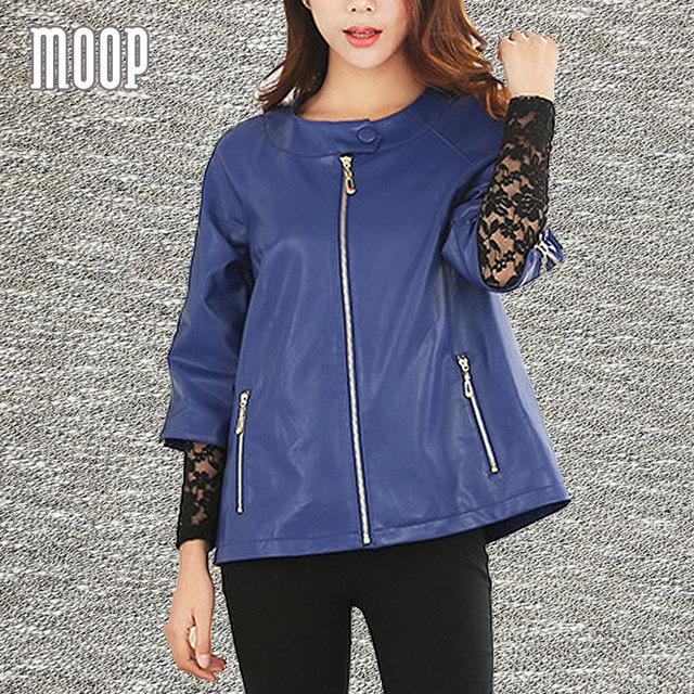 Plus size azul royal genuínas mulheres casaco de couro jaquetas de couro de pele de cordeiro real cropped jaqueta de moto lt781 veste en cuir femme