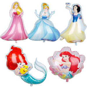 1pc 108*69cm Large Bell Cinderella Snow White Elsa Princess Foil Balloons Baby Birthday Party Decorations kids Helium Balls toys(China)
