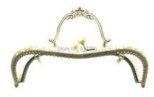 Free Shipping-1PC Antique Bronze Purse Bag Metal Arch Frame Kiss Clasp Lock Handle 21x15cm(8 2/8″x5 7/8″) J2585