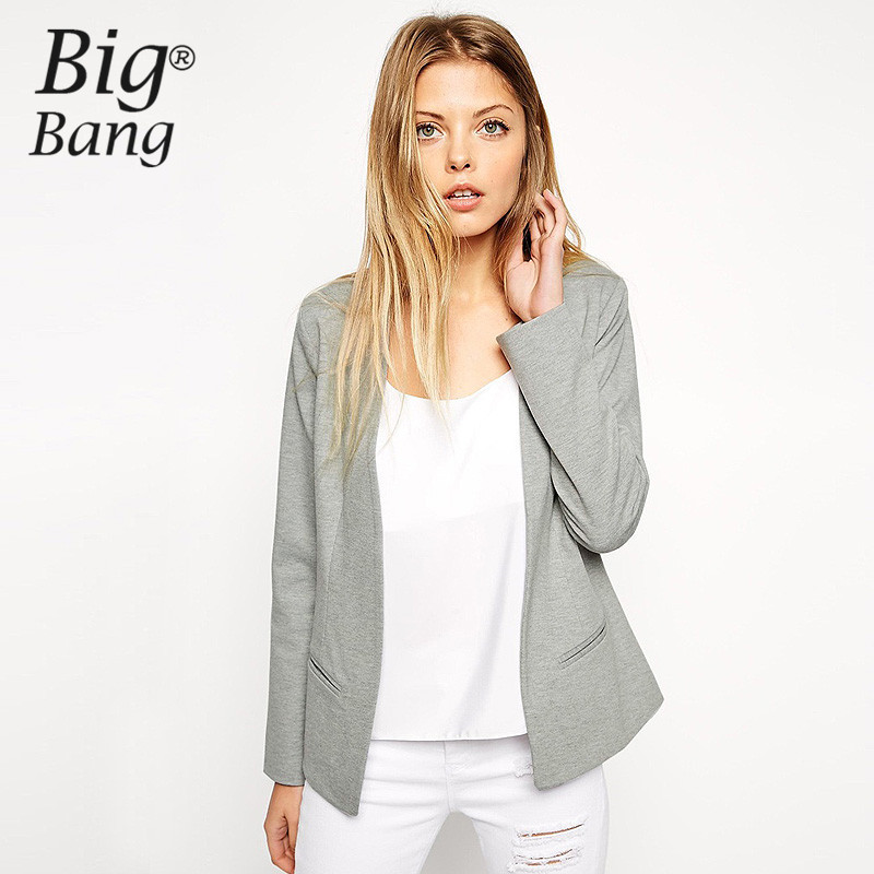 Online Buy Wholesale grey blazer women fashion from China grey