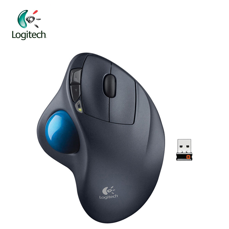 Logitech M570 Mouse med 2.4G Wireless Optical Trackball Ergonomisk musspelare för Windos 10/8/7 Mac OS Support Official Test