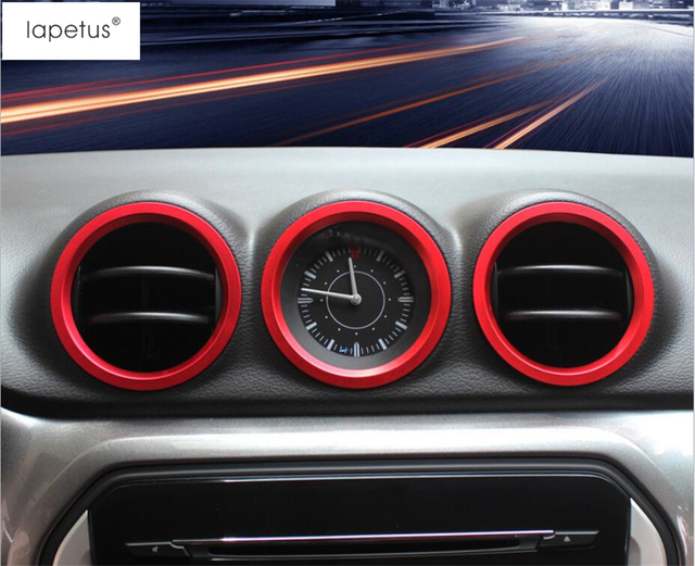 6cd1d7d4044 Lapetus Accessories For Suzuki Vitara 2015 - 2018 Air Conditioning AC  Outlet Vent Decoration Ring Molding Cover Kit Trim   Metal