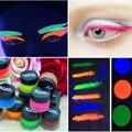 Regalo de navidad Muchachas de La Manera de Los Ojos de Maquillaje de Larga Duración Glittle Pigmento Resplandor en la Oscuridad Fluorescente Sola Sombra de ojos de Alimentación De Maquillaje