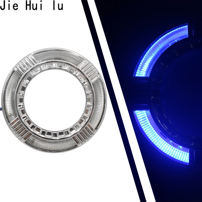 LED Angel Eyes + projecteur de lentille au xénon Bi pour feux de jour de modification de voiture 2.5/3.0 H4 H7 9005