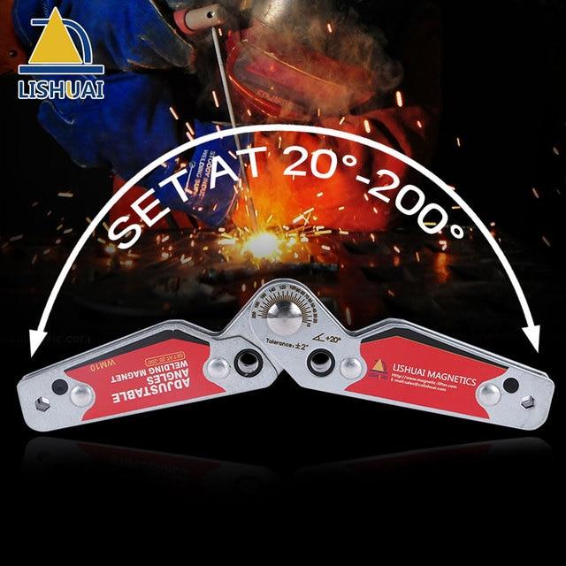 LISHUAI (3pcs/pack) Mini Multi-angle Welding Magnet+Small Size Adjustable Welding Clamp 20-200 degree Welding Tools Set