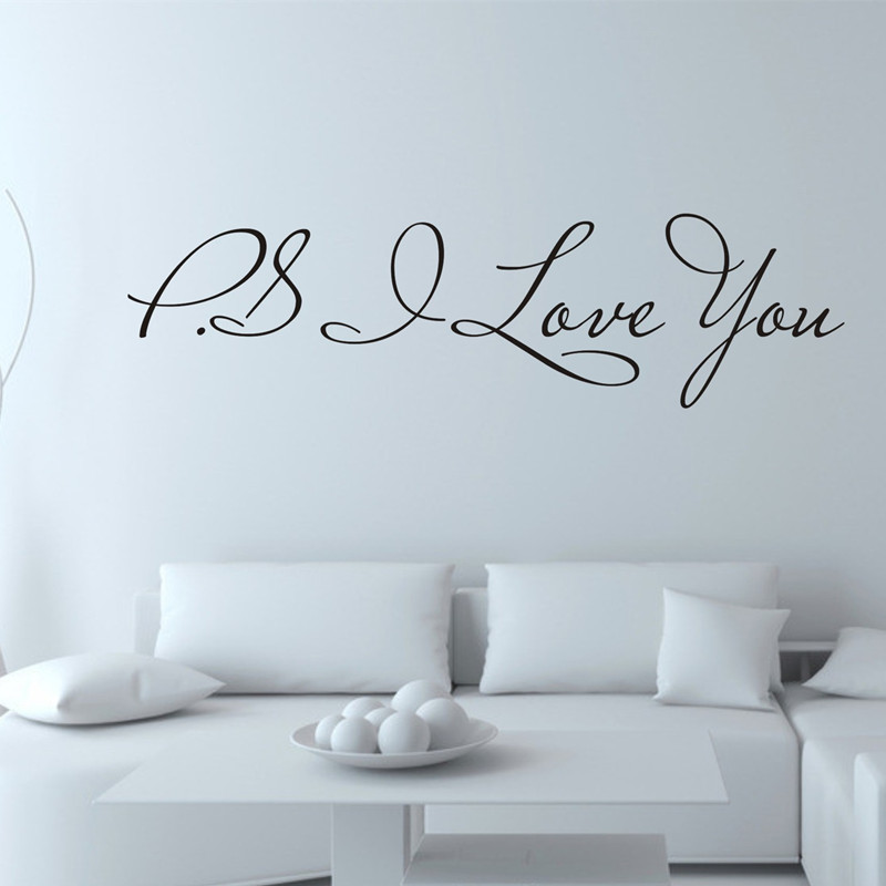Qt 0078 Hot Selling Ps I Love You Vinyl Wallpapers All Match Style