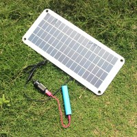 20W Solar Panel 12V to 5V Battery Charger USB for Car Boat Caravan Power Supply WWO66
